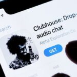 Clubhouse app on phone screen